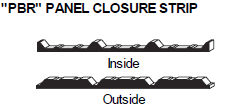 PBR Panel Closure Strip
